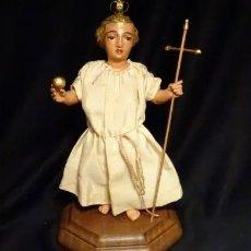 Arte: TALLA EN MADERA FIGURA NIÑO JESUS DE LA BOLA. COLONIAL.SIGLO XVIII.. Lote 166783278