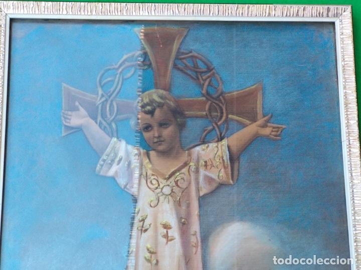 Arte: NIÑO DIOS PINTADO AL PASTEL - Foto 2 - 168109312