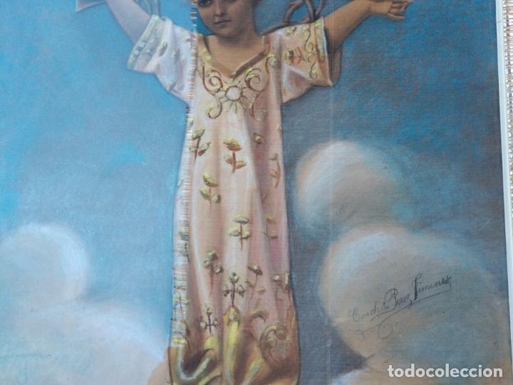 Arte: NIÑO DIOS PINTADO AL PASTEL - Foto 3 - 168109312