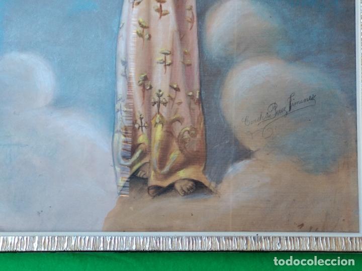 Arte: NIÑO DIOS PINTADO AL PASTEL - Foto 4 - 168109312