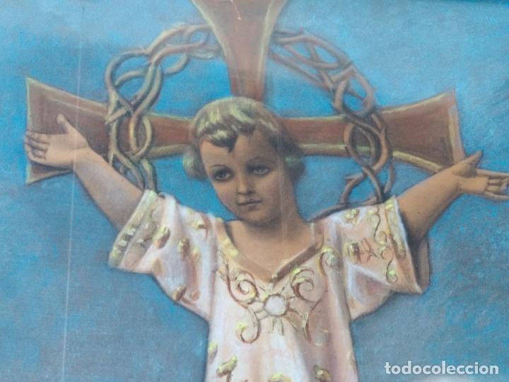 Arte: NIÑO DIOS PINTADO AL PASTEL - Foto 5 - 168109312