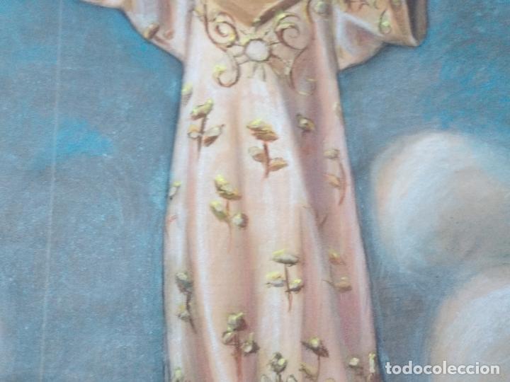 Arte: NIÑO DIOS PINTADO AL PASTEL - Foto 6 - 168109312