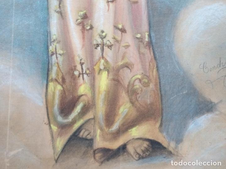 Arte: NIÑO DIOS PINTADO AL PASTEL - Foto 7 - 168109312