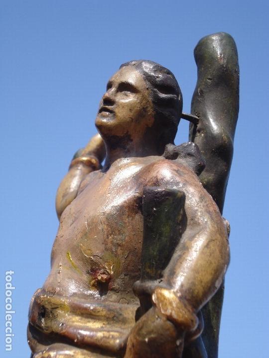 Arte: SAN SEBASTIÁN MARTIR ESCUELA ESPAÑOLA TALLA DE MADERA SXVIII - Foto 2 - 168194560