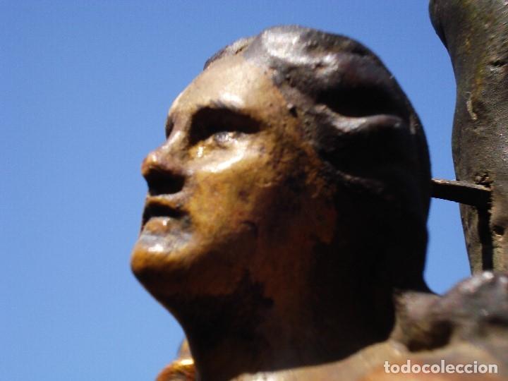 Arte: SAN SEBASTIÁN MARTIR ESCUELA ESPAÑOLA TALLA DE MADERA SXVIII - Foto 16 - 168194560