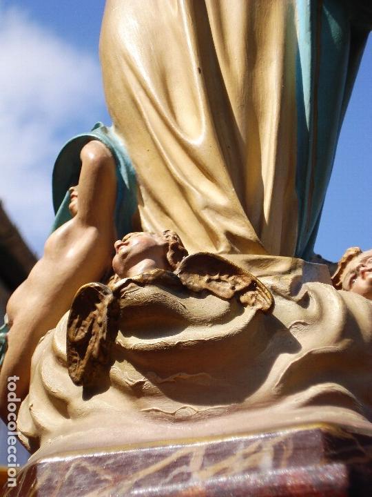 Arte: VIRGEN INMACULADA CONCEPCIÓN CASA VIDAL PASTA DE MADERA ESCUELA ESPAÑOLA - Foto 3 - 168194808