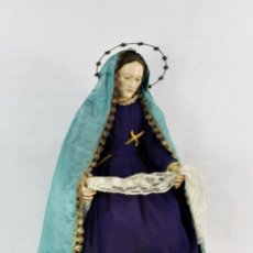 Arte: VIRGEN DOLORES DOLOROSA CAPIPOTA GRAN MEDIDA AÑOS 1800 TALLA DE MADERA 66 CM, ARTICULADA. Lote 168215488