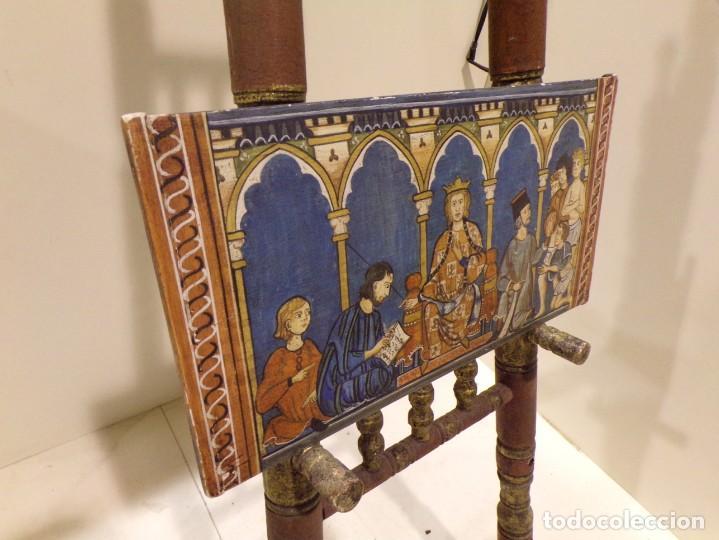 Arte: antiguo retablo al estilo romanico pintado a mano, - Foto 3 - 168368768