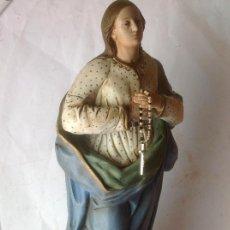 Arte: GRAN Y ANTIGUA VIRGEN PURISIMA EN TERRACOTA SIGLO XIX , ORIGINAL - 62 CM ALTO. Lote 168389196