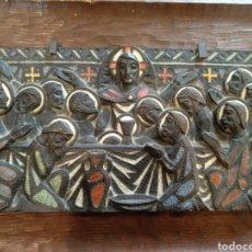 Arte: BONITO BRONCE ESMALTADO NUET MARTI, SANTA CENA. Lote 168453584