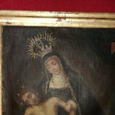 Arte: ANTIGUA PINTURA ARTE POPULAR AL OLE SOBRE LIENZO RELIGIOSA SG/XVII. Lote 168398457