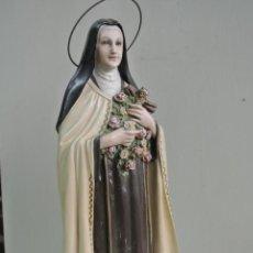 Arte: FIGURA DE ESTUCO DE OLOT. SANTA TERESA DEL NIÑO JESÚS, DE LISEUX. 45 CM. Lote 221729447