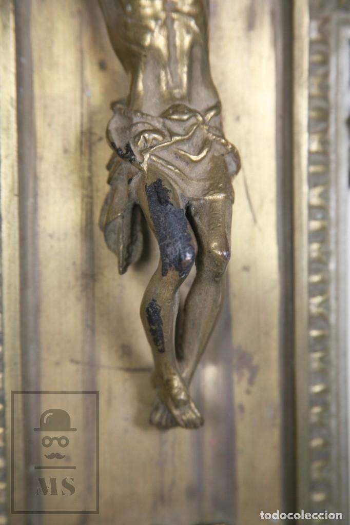 Arte: Benditera / Crucifijo de Metal / Bronce ? - Firmado S. Martin - Medidas 29 x 49 cm - #LRV - Foto 3 - 168564004