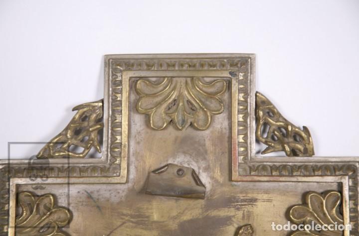 Arte: Benditera / Crucifijo de Metal / Bronce ? - Firmado S. Martin - Medidas 29 x 49 cm - #LRV - Foto 6 - 168564004