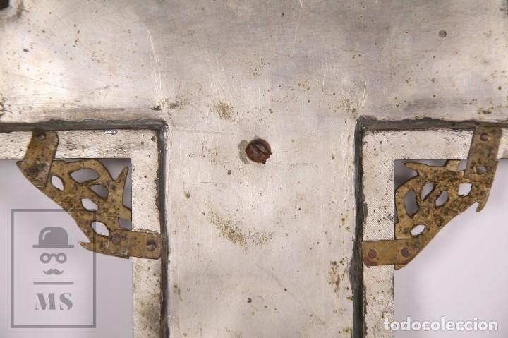 Arte: Benditera / Crucifijo de Metal / Bronce ? - Firmado S. Martin - Medidas 29 x 49 cm - #LRV - Foto 9 - 168564004