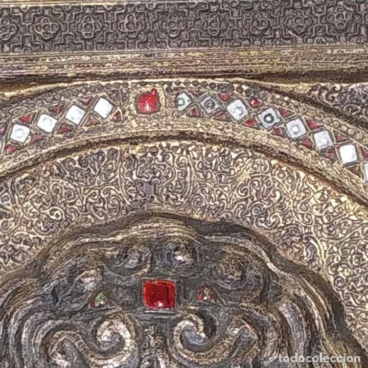 Arte: ICONO. EL ARCÁNGEL SAN MIGUEL. BRONCE CICELADO Y ESMALTADO. ESTILO BIZANTINO. RUSIA. XIX - Foto 5 - 168568128