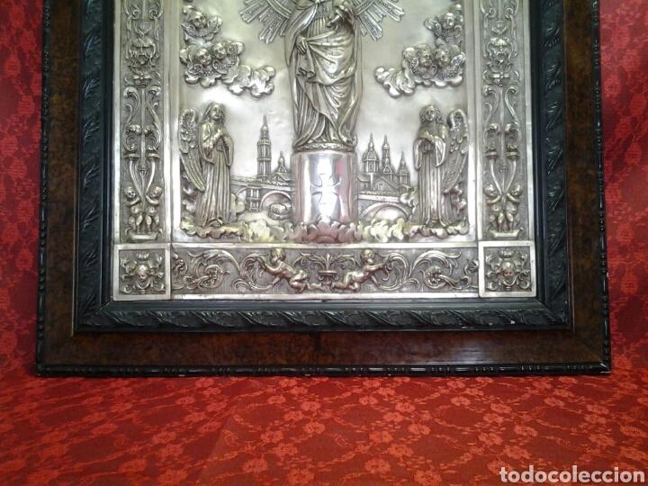 Arte: Virgen del Pilar ,cuadro antiguo en relieve - Foto 3 - 168699902