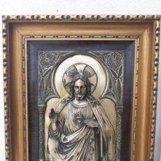 Arte: CUADROS CON CRISTO EN ALPACA. Lote 168714988