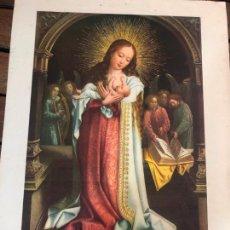 Arte: LAMINA LA VIRGEN DE LA LECHE - MUSEO DEL PRADO - MEDIDA 35X24 CM. Lote 168742296