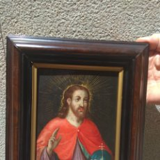 Arte: ÓLEO SOBRE COBRE CRISTO BENDICIENDO SIGLO XVII. Lote 168742596