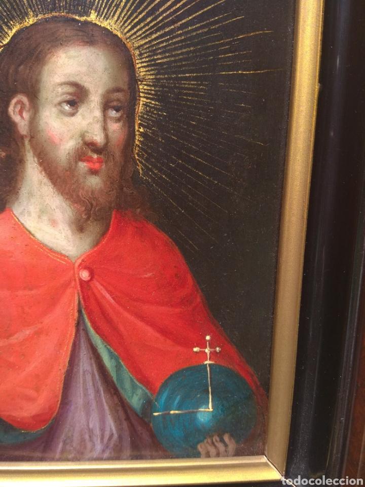 Arte: Óleo sobre Cobre Cristo Bendiciendo siglo XVII - Foto 7 - 168742596