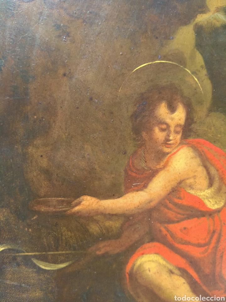 Arte: Óleo sobre Cobre San Juan Bautista siglo XVIII - Foto 9 - 168744246