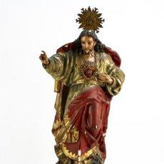 Kunst - Sagrado Corazón- Talla de madera policromada - Principios S.XIX - 92 cm - 168746260
