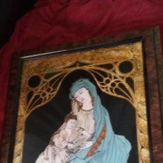 Arte: CUADRO RELIGIOSO, PAN DE ORO Y PINTURA. Lote 168747192