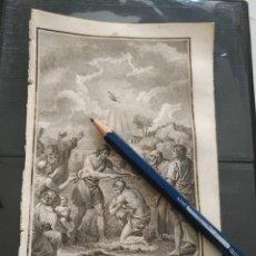Arte: ORIGINAL GRABADO RELIGIOSO AÑO 1840 - BAUTISMO DE CRISTO POR SAN JUAN BAUTISTA - GRABÓ PELEGUER. Lote 168897736
