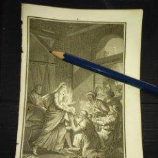 Arte: ORIGINAL GRABADO RELIGIOSO AÑO 1840 ADORACION DE LOS REYES MAGOS, VIRGEN NIÑO JESUS - JO RICO GRABÓ. Lote 168901988