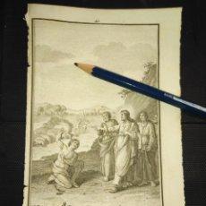 Arte: ORIGINAL GRABADO RELIGIOSO AÑO 1840 JESUS EXPULSANDO DEMONIOS. Lote 168906260