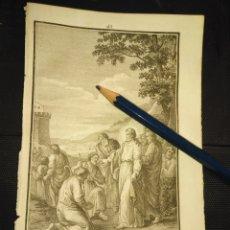 Arte: ORIGINAL GRABADO RELIGIOSO AÑO 1840 CRISTO - JESUS ELIGIENDO A SUS APOSTOLES . Lote 168906320