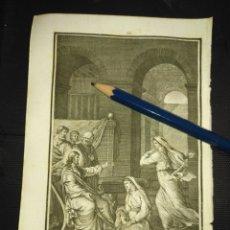 Arte: ORIGINAL GRABADO RELIGIOSO AÑO 1840 CRISTO - JESUS CON SANTA MARTA Y MARIA. Lote 168906500