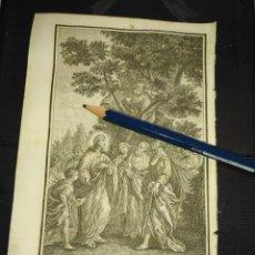 Arte: ORIGINAL GRABADO RELIGIOSO AÑO 1840 CRISTO - JESUS Y ZAQUEO. Lote 168906592