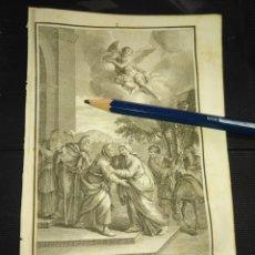Arte: ORIGINAL GRABADO RELIGIOSO AÑO 1840 LA VIRGEN VISITACION A SANTA ISABEL. Lote 168907136