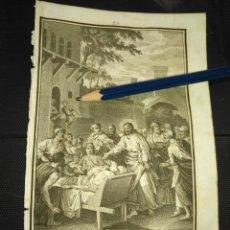 Arte: ORIGINAL GRABADO RELIGIOSO AÑO 1840 CRISTO - JESUS CURA AL PARALITICO. Lote 168907580