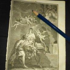 Arte: ORIGINAL GRABADO RELIGIOSO AÑO 1840 LA HUIDA A EGIPTO DE LA VIRGEN NIÑO JESUS .... Lote 168907636