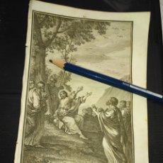 Arte: ORIGINAL GRABADO RELIGIOSO AÑO 1840 JESUS PREDICANDO ANTE SUS CREYENTES. Lote 168907824