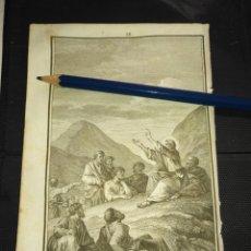 Arte: ORIGINAL GRABADO RELIGIOSO AÑO 1840 JESUS ENSEÑANDO A LOS APOSTOLES. Lote 168908060