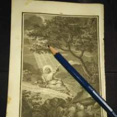 Arte: ORIGINAL GRABADO RELIGIOSO AÑO 1840 CRISTO EN EL HUERTO DE GETSEMANI. Lote 168909444