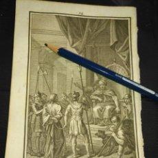 Arte: ORIGINAL GRABADO RELIGIOSO AÑO 1840 CRISTO ANTE ANAS . Lote 168909476