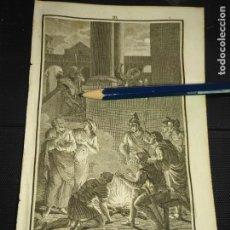 Arte: ORIGINAL GRABADO RELIGIOSO AÑO 1840 LAS NEGACIONES DE SAN PEDRO. Lote 168909536