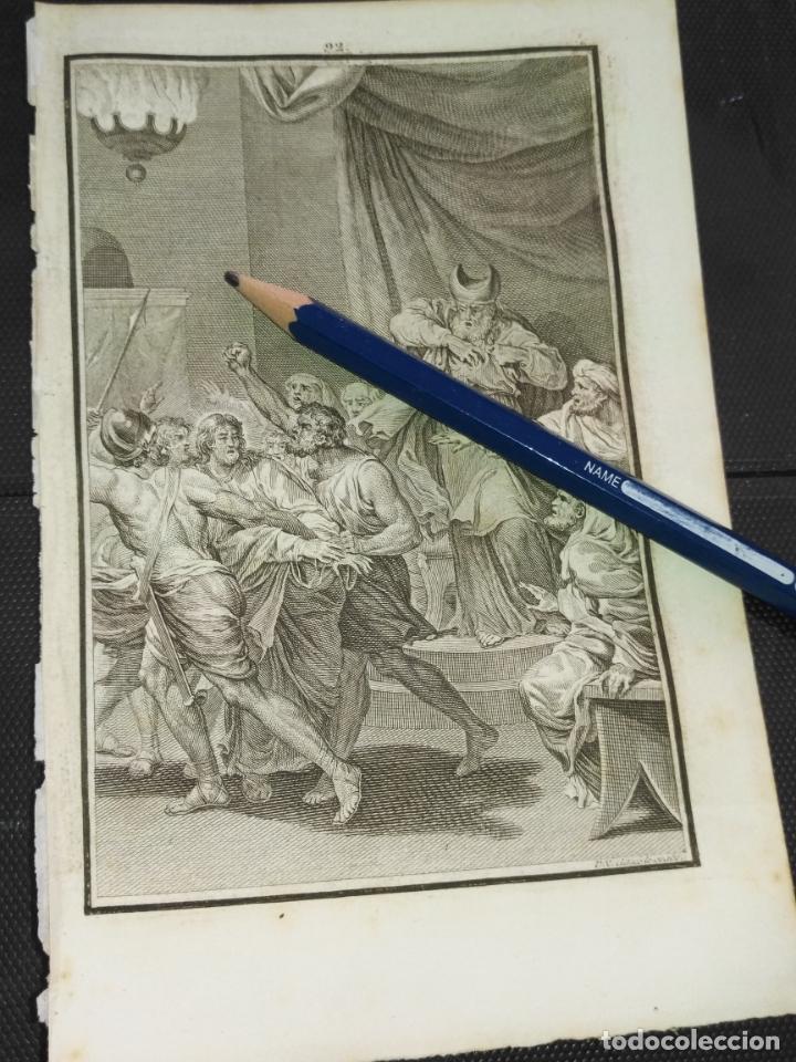 ORIGINAL GRABADO RELIGIOSO AÑO 1840 CRISTO - JESUS ANTE CAIFAS (Arte - Arte Religioso - Grabados)
