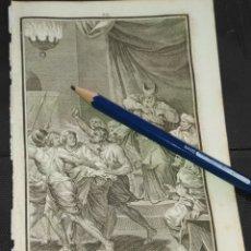 Arte: ORIGINAL GRABADO RELIGIOSO AÑO 1840 CRISTO - JESUS ANTE CAIFAS. Lote 168909732