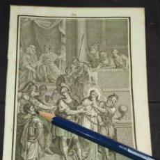 Arte: ORIGINAL GRABADO RELIGIOSO AÑO 1840 CRISTO - JESUS ANTE PILATOS. Lote 168911612