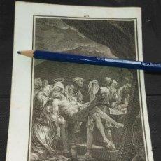 Arte: ORIGINAL GRABADO RELIGIOSO AÑO 1840 CRISTO - EL ENTIERRO DE CRISTO EN EL SEPULCRO. Lote 168911724