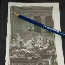 Arte: ORIGINAL GRABADO RELIGIOSO AÑO 1840 CRISTO - LA SANTA CENA JESUS Y SUS APOSTOLES. Lote 168911892