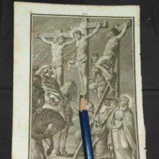 Arte: ORIGINAL GRABADO RELIGIOSO AÑO 1840 CRISTO - LA LANZADA , CRUCIFICADOS . . Lote 168912276