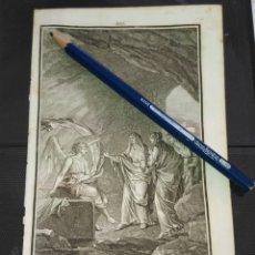 Arte: ORIGINAL GRABADO RELIGIOSO AÑO 1840 UN ANGEL ANUNCIA LA RESURRECCION DE CRISTO A LAS SANTAS MUJERES. Lote 168912456