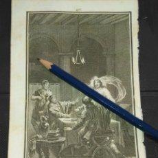 Arte: ORIGINAL GRABADO RELIGIOSO AÑO 1840 LOS DISCIPULOS DE EMAUS. Lote 168912592